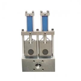 双板双工位液压换网器